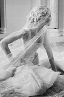 elie saab backless tulle großhandel-Luxus Overskirts Brautkleider 2019 Tüll Backless Spitze Applique Perlen Nach Maß Elie Saab Brautkleider China Vestidos De Novia DHgate