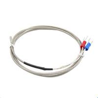 tip sıcaklık kontrolörü toptan satış-20 ADET Sıcaklık Kontrol 3 * 15 * 1000 K Tipi Termokupl 1 m Yüksek Sıcaklık Sensörü 0-600 Derece Termokupl 3D yazıcı Endüstriyel