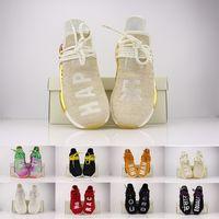 zapatos originales de la raza humana al por mayor-36-48 NMD Running Shoes Original Human Race Happy Holi nerd Sun Glow Igualdad Runner Primeknit Hombres Mujeres Pharrell Williams HU Sport Sneaker