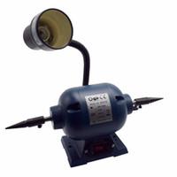 máquinas de limpeza de jóias venda por atacado-Motor de polonês dental 200W com a máquina de perfuração de lustro de lustro da limpeza da jóia da lâmpada
