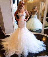 Wholesale sexy wedding dresses fish tail for sale - Group buy Inexpensive Sexy Beach African Pretty Fish Tail Wedding Dresses Saui Arabia Tulle Mermaid Summer Wedding Dress