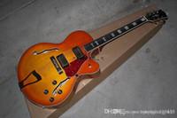 Wholesale guitar semi hollow sunburst resale online - HGFD custom jazz Semi Hollow guitar custom L5 in CS cherry burst sunburst Electric Guitar in stock edsw