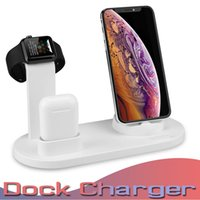 carregador para iphone dock para carregador venda por atacado-3 em 1 estação doca de carregamento stand titular para apple watch series 1 2 3 4 para iphone x xs xs max apple watch airpods carregador stand