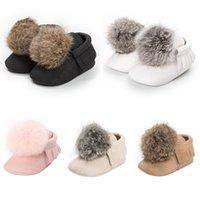sevimli bebek kışı spor ayakkabıları toptan satış-Sevimli Yenidoğan Bebek Kız Ayakkabı Çocuklar Yumuşak Terlik Sıcak Peluş Top Ayakkabı Moccasins Sneakers Yeni