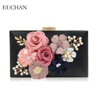 çanta çerçevesi toka toptan satış-Kadınlar için Euchan El Yapımı Çiçek Gün Manşonlar Çanta Düğün Gelin Parti Çanta Sekmesi Çerçeve Toka Akşam Çanta Omuz Zinciri Ba'g '# 486348