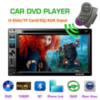 consertar a câmera venda por atacado-COMPLETO HD tela de 6,2 polegadas tela LCD link do telefone do carro DVD player dual fixo Car DVD player universal RK-6619B com câmera de visão traseira invertida