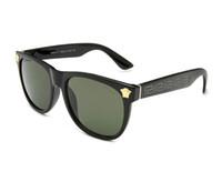 ingrosso occhiali da sole blu per gli uomini-Nuovo 0Versace Cat Eye Occhiali da sole da donna Lenti a colori colorate Uomo Occhiali da sole a forma vintage Occhiali da sole da donna Occhiali da sole blu Designer di marca