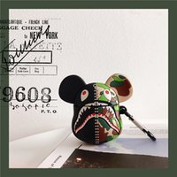 Wholesale apple ring box resale online - For Apple AirPods earphone Case Cute Cartoon Camouflage Earphone Case For Airpods Silicone Protect Cover With Finger Ring Stra