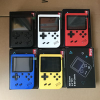 Wholesale retro video game console resale online - Mini Handheld Game Console Retro Portable Video Game Console Can Store Games Bit Inch Colorful LCD Cradle Design