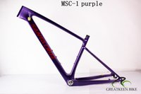 mtb frame toptan satış-2019 sıcak satmak Karbon Parlak / Matt Bisiklet MTB Bisiklet Çerçeve kulaklık Kelepçe (BB30 / BSA) ücretsiz kargo