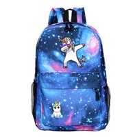 Wholesale casual college style backpacks resale online - Free DHL Styles Cute Lightweight Unicorn Backpacks Girls School Bags Kids Bookbags Styles Cartoon Backpack Women Casual Knapsack M197F