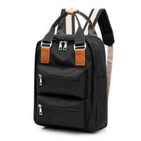 genç kızlar için laptop çantaları toptan satış-Çok İşlevli kadınlar sırt çantası moda gençlik kore tarzı omuz çantası laptop sırt çantası okul çantaları genç kız erkek seyahat için