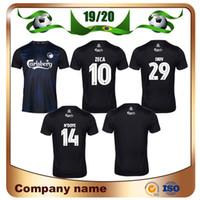 siyah n s toptan satış-Yeni 2019 Kopenhag futbol forması 19/20 Ev Siyah # 10 ZECA Futbol Gömlek # 14 N'DOYE # 29 SKOV Özelleştirilmiş futbol formaları
