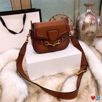 Wholesale small silver handbag for sale - Group buy hot sale designer crossbody messenger bags luxury famous brand handbags good quality leather bags classical style saddle bag dust bag box