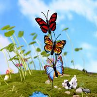 ingrosso mini figurine-4 Pz / set miniature artigianato farfalla fata giardino mini gnomi moss terrari figurine per la decorazione del giardino
