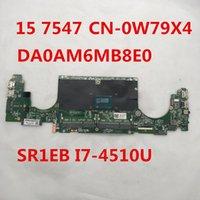 ingrosso laptop intel i7 motherboard-para sheli Inspiron 15 7547 Laptop motherboard CN-0H1XYW 0H1XYW H1XYW DA0AM6MB8E0 Con SR1EB I7-4510U CPU al 100% pieno testd