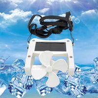 Wholesale usb clip fan resale online - New Clip on Hat Mini Fan Solar Power LED USB Fan Cooling Energy Saving Portable Travel