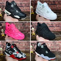 sapatas de j venda por atacado-Nike air jordan 4 Barato J 4s crianças tênis de basquete meninos meninas 4 XIII tênis presente da juventude crianças esportes tênis de basquete crianças sapatos tamanho 28-35