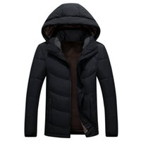 Wholesale yellow duck clothing resale online - Parka Men Coats Double face Winter down Jacket Men Slim Thicken Hooded Outwear Warm north Coat Top Brand Clothing Casual Men s Coat