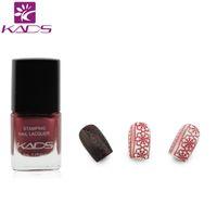 Wholesale nail polish templates for sale - Group buy KADS Crimson Magic Nail Art Stamping Lacquer Long lasting Nail Print Polish Women Girls DIY Manicure template polish
