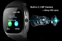 Wholesale camera mobile sport online – custom Sport Android Smart Watch T8 Wristband TF Card Phone Camera Smart Watch SIM Intelligent Mobile Phone Sleep State Smart Watch Retail Package