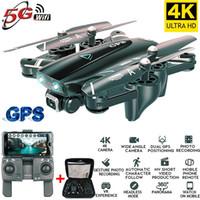 hd fpv kameralar toptan satış-Drone 4k HD kamera, GPS insansız 5G WiFi FPV 1080P 20 dakika kamera ile drone sinyal dönüş RC helikopter uçuşu