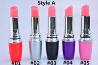 Wholesale lipstick vibrate resale online - Mini AV Vibrator Sex Massager Lipsticks Masturbation Vibrator Vibrating Stick Clitoris Stimulator Erotic Product Adult Sexy Toys for Woman