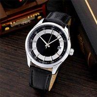 qualitativ hochwertige uhr mechanische bewegungen großhandel-Berühmte Design Mode Männer große Uhr Gold Silber Lederband hochwertige mechanische Bewegung Uhren Mann Armbanduhr Business Classil Uhr