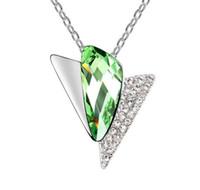 ожерелья высокого класса кристалла оптовых-Сделано в Китае женщина украшения ювелирные изделия с использованием Swarovski Elemental Crystal ожерелье время город высокого класса кулон Оптовая горячая продажа