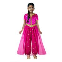 ingrosso i capretti caldi dei vestiti dentellare-Pettigirl Summer Girls Jasmine Princess Tuta Costume Cosplay Hot Pink Fancy Abbigliamento per ragazze Boutique Abbigliamento per bambini G-DMRR205-G014