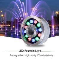 ingrosso luci subacquee 12v-L'anello della fontana di JML accende l'illuminazione sommergibile della pompa idraulica cambiante colorata Cree LED di 12W 24V per il giardino