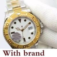 relógios de rosto branco para homens venda por atacado-Designer mens assistir automático ouro prata aço inoxidável círculo rosto branco Relógios mecânicos Safira fecho original assistir homens
