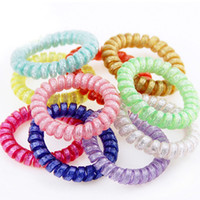 Wholesale changing hair color for sale - Group buy 10pcs Korean Lady Color Gradual Change Telephone Line Telephone Wire Line Headband Elastic Hairban Hair Braiders