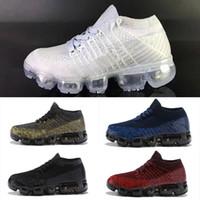 zapatos de moda para niños al por mayor-Nike air max 2018Nueva llegada de los niños 2018 Vaporesmaxs zapatillas niños moda Oudoor entrenamiento calzado deportivo tamaño 11C-3Y