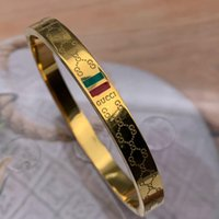 Wholesale african gold men bangle for sale - Group buy NEW Deluxe Brand Jewelry stainless steel Pulseira Bracelets Bangles k Gold silver rose gold plated green red Bracelet For Women men