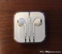 iphone5 auriculares mic al por mayor-Buena calidad para iPhone 5 6 auriculares auriculares auriculares auriculares 3.5mm con volumen de micrófono auriculares remotos para iphone5 iphone6 6S Plus 5S 4S