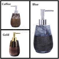 ingrosso shampoo bottiglie per doccia-Bottiglia di pompe per serbatoi Accessori Bagno controsoffitto decorativo Lotion Dispenser per Shampoo Bagno Doccia Gel Sapone Liquido MMA2659