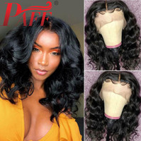 Wholesale long bob lace front wigs for sale - Group buy PAFF Bob Lace Front Human Hair Wigs Brazilian Natural Wave Human Hair Wig Pre Plucked With Baby Hair Curly Lace Front Wig