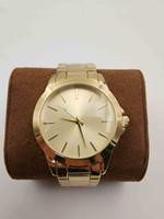 señoras vestido de cuarzo relojes al por mayor-Moda unisex para hombre de aleación de lujo de metal MK LOGO reloj al por mayor vestido de cuarzo partido relojes de pulsera relogies de alta calidad para las mujeres