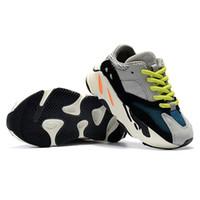 спортивные тренажеры для мальчиков оптовых-Adidas Yeezy 700 Big Kids 700 Wave Runner для малышей Сиреневые кроссовки Youth Inertia Sneaker Pour Enfants Chaussures Подростковая спортивная обувь Мальчики Тренеры Дети