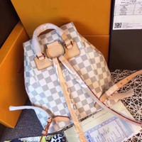 ingrosso borse foto-Nuovo marchio immagine modello donne moda in pelle classico zaino casual famoso design delle donne borsa a tracolla di alta qualità unisex messaggio sacchi