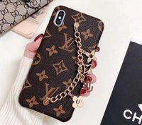 Wholesale Luxury brands Designer Phone Cases for Iphone Pro Max plus xs Max XR fashion Bracelet PU Leather key chain free DHL