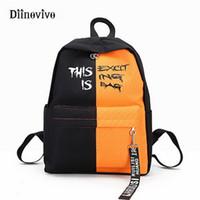 kore naylon çanta toptan satış-Diinovivo Modası Naylon Kadın Sırt Çantası Kadın Kore Tarzı Sırt Çantaları Genç Kızlar Için Okul Çantaları Tasarımcı Sırt Çantası Için Whdv0393 Y19051405