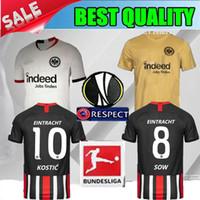 jerseys negros de alemania al por mayor-2019 Eintracht Frankfurt camisetas de fútbol blancas 19 20 Frankfurt amarillo HALLER REBIC SOW KOSTIC PACIENCIA 2020 Alemania camisetas de fútbol negras