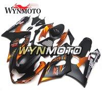 motocicletas gsxr plásticos venda por atacado-Injeção de plástico ABS Motocicleta Carenagens Para Suzuki GSXR1000 K5 2005 2006 05 06 capas de motocicleta gsxr 1000 casco de capuz Laranja Preto