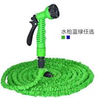 Wholesale blue expandable garden hose resale online - Stretchable M Garden Hose Watering FT Magic Expandable Garden Supplies Water Hose With Spray Gun