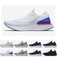 Wholesale gone fishing resale online - 2019 Belgium Epic React Instant Go Fly men women running shoes Blue Glow black white causal mesh Breathable sport Athletic trainer sneakers