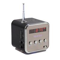 altavoz digital micro al por mayor-TD-V26 Radio Portátil Altavoz con pantalla LCD Ayuda SD / TF reproductor de música MP3 FM digital compatible para el ordenador portátil