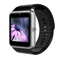 andriod mobil großhandel-Heiße Verkaufs-intelligente Uhr GT08 für Andriod-Handy-Bluetooth-Uhr mit SIM-Karten-Uhr für tragbares Gerät-Telefon IOS Freies Verschiffen