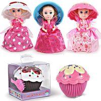 muñecas princesas minis al por mayor-Nuevo Hot 14.5cm Angel Sleeping Baby Decoration Cake Doll Princess Toy Creative Dress Up Girl Decorating Gift